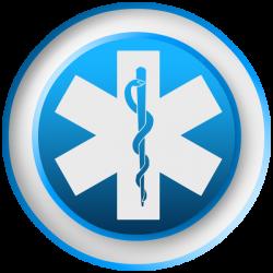Emergency Medicine Symbol Blue clipart image - ipharmd.net