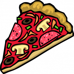 Pizza And Salad Clipart