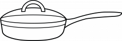 Frying Pan Coloring Page - Free Clip Art