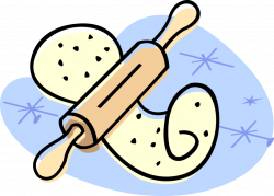 Kitchen Rolling Pin - Vector Image