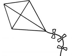 Kite Lineart Coloring Page   Clipart Panda - Free Clipart Images