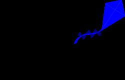 clipartist.net » Clip Art » adam lowe blue kite SVG