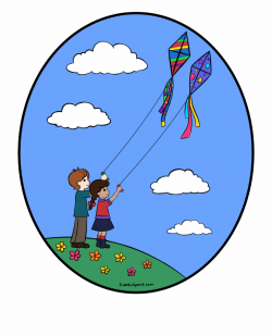 Spring Clipart Kite - Kite Flying Clip Art Free PNG Images ...