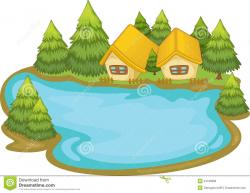 Cartoon Lake Clipart