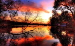 Beautiful Sunset by the Lake Wallpaper   Gallery ...