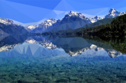 Clipart - Low Poly Lake McDonald
