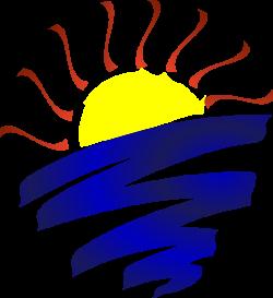 Lake Sunset Champlain Clip Art at Clker.com - vector clip art online ...