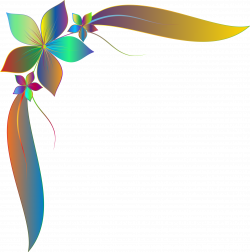 Clipart - Prismatic Simple Corner Ornament 2