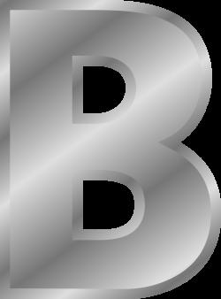 Clipart - Effect Letters alphabet silver