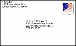 Clipart - addressed envelope with stamp
