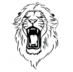Lion Roaring Drawing | Clipart Panda - Free Clipart Images ...