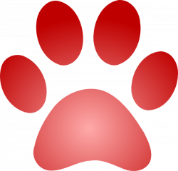 Red Paw Print With Gradient Clip Art at Clker.com - vector clip art ...