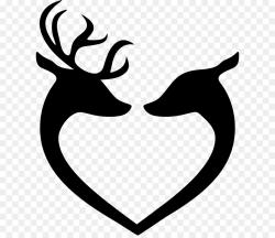 Love Black And White clipart - Deer, Leaf, Love, transparent ...