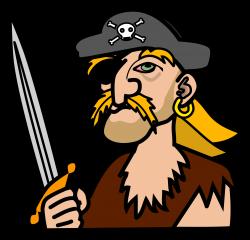 Clipart - pirate - coloured