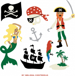 Pirate Clip Art Free Gift From Melissa Contreras - Aeolidia