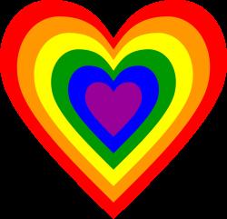OnlineLabels Clip Art - Rainbow Heart