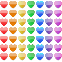 Stock Clip Art – Rainbow Hearts | Clip Art Department