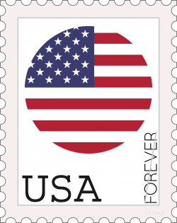 Clipart - USA Forever Stamp Concept