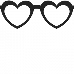 Heart-Shaped Glasses Stamp   Glasses Stamps – Stamptopia