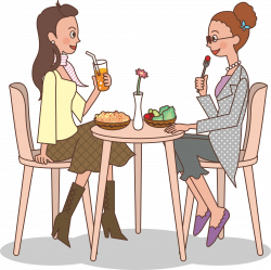 Clipart - Ladies at lunch