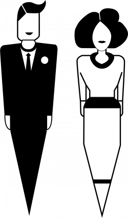 Clipart - man and woman