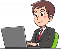 Clipart - Business man working