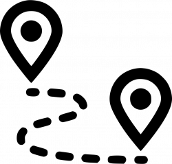 Route Pin Gps Map Marker Navigate Navigation Plan Road Svg Png Icon ...