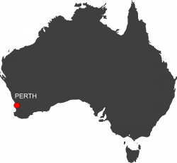 Australia Perth Location Map Clip Art at Clker.com - vector clip art ...