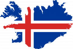 Clipart - Iceland Flag Map