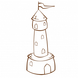 Public Domain Clip Art Image | RPG map symbols Round Tower with Flag ...