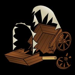 Public Domain Clip Art Image | RPG map symbols: caravan wreck | ID ...