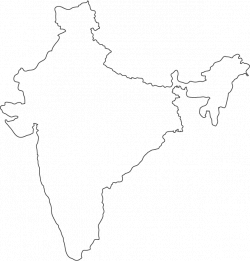 India outline map | Secret Garden | Pinterest | Outlines, India and ...