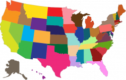 Clipart - MultiColored United States Map