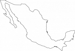 Limited Outline Map Of Mexico | Sporturka states of mexico outline ...