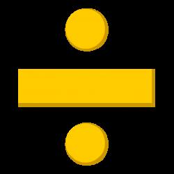 Division Symbol Clipart (18+)