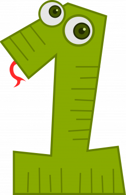 Number Animals 1 (Snake) by @kablam, The number 1 as a snake animal ...