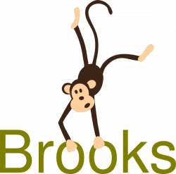 Monkey With Name Clip Art at Clker.com - vector clip art online ...
