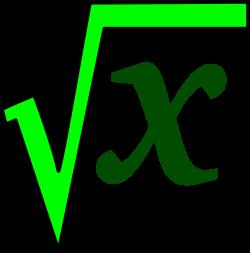 Clipart - math sqrt