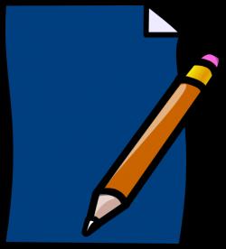 Planner Pencil Blue Clip Art at Clker.com - vector clip art online ...