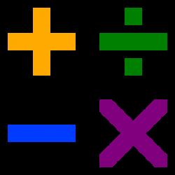 File:Arithmetic symbols.svg - Wikimedia Commons