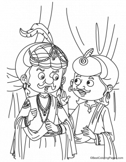 Akbar birbal talking coloring pages | coloring pages | Pinterest