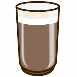 28+ Collection of Glass Of Chocolate Milk Clipart | High quality ...
