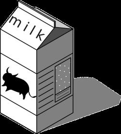 Milk Carton Clipart Black And White. Good Milk Carton Clipart Black ...