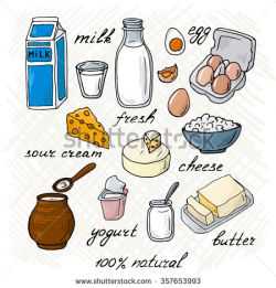 Milk products clipart » Clipart Station