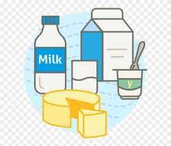 Milk, Yogurt And By-products - Food Clipart (#2009449 ...