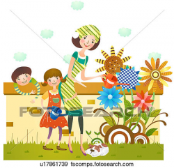 Kids Gardening Clipart | Free download best Kids Gardening ...