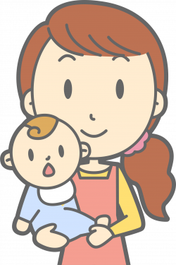 Clipart - Mother and Baby (#1)