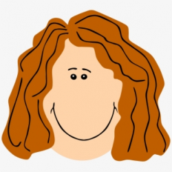 Mom Face Ginger - Brown Hair Woman Clip Art - Download ...