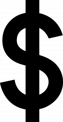 Money Symbols Black And White Clipart