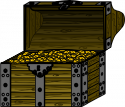 Pirate Treasure Chest With Coins Clip Art at Clker.com - vector clip ...
